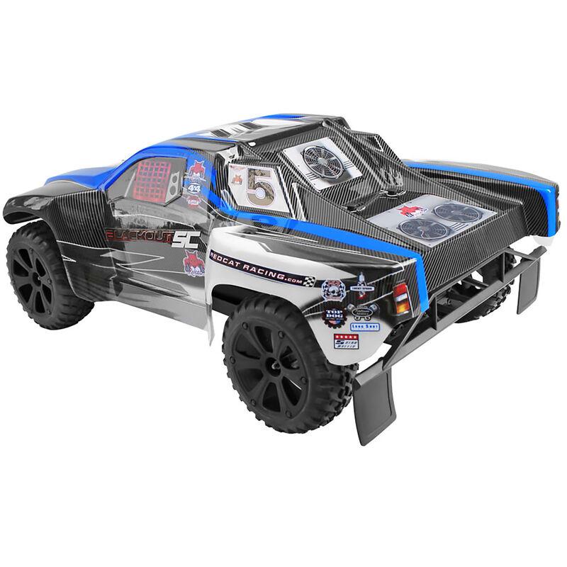 1/10 Blackout SC 4WD Short Course Truck Brushed RTR, Blue
