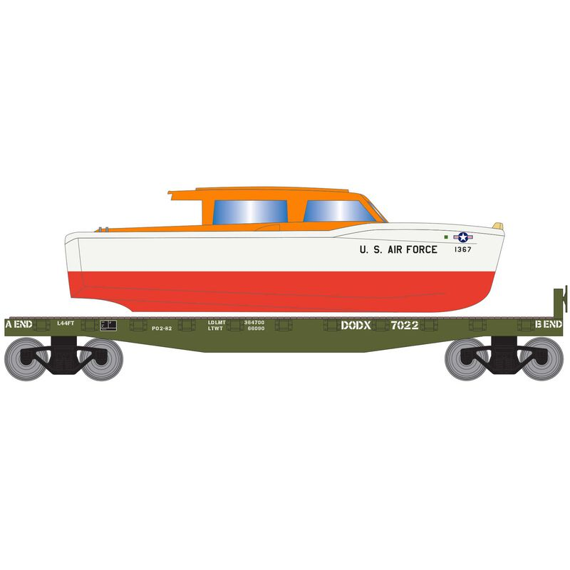 HO 40' Flat w Air Force Rescue Boat DODX #7022