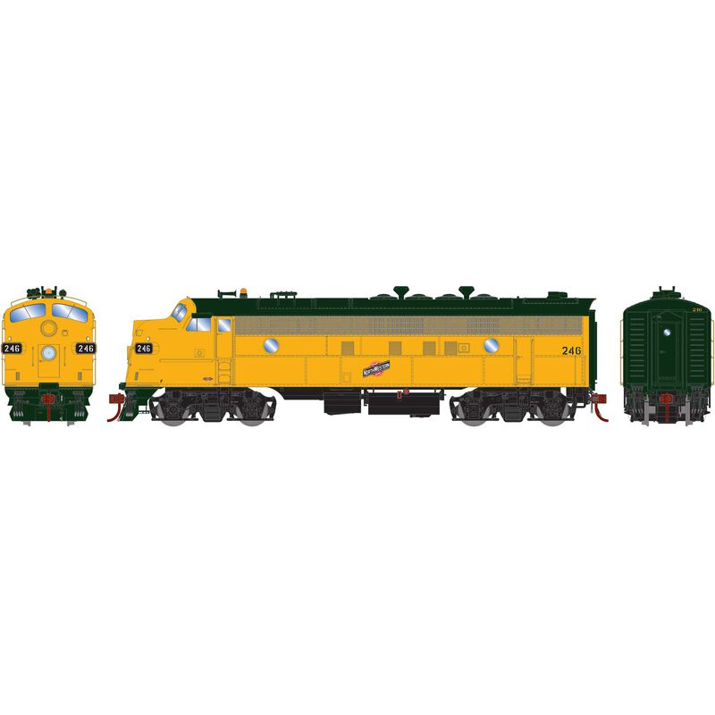 HO FP7A with DCC & Sound C&NW #246