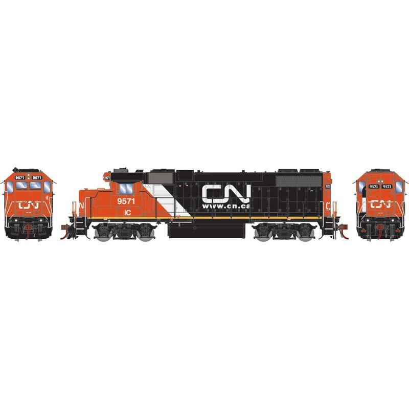 HO GP38-2 with DCC & Sound CN IC Website Logo #9571