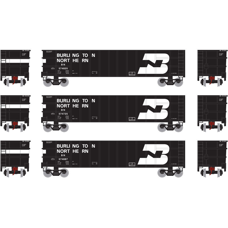 N Thrall High Side Gondola with Load BN #1 (3)