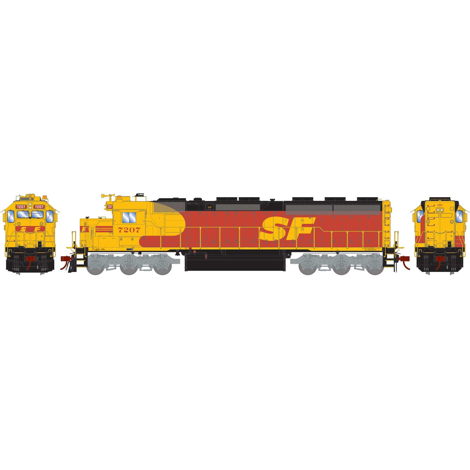 HO SD45-2 with DCC & Sound SF Kodachrome #7207