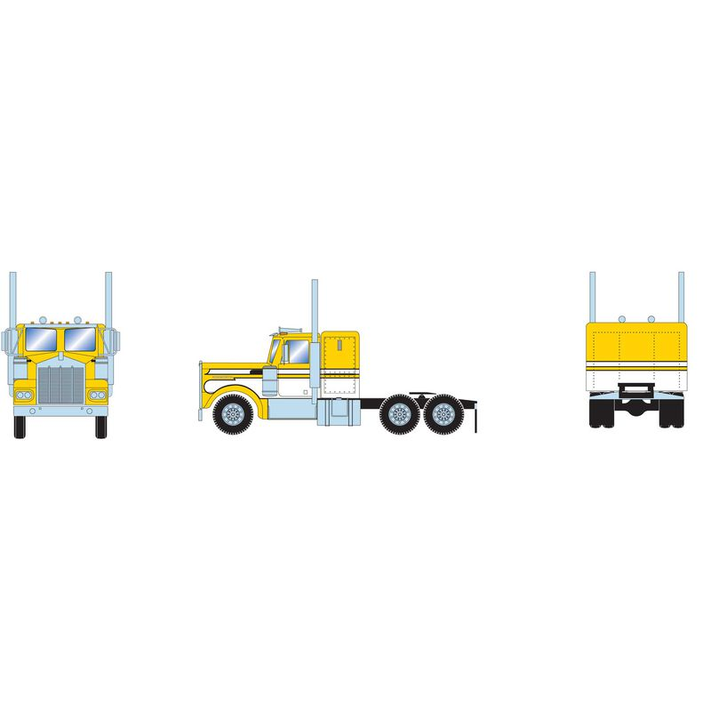 HO RTR Kenworth Tractor, Yellow/White