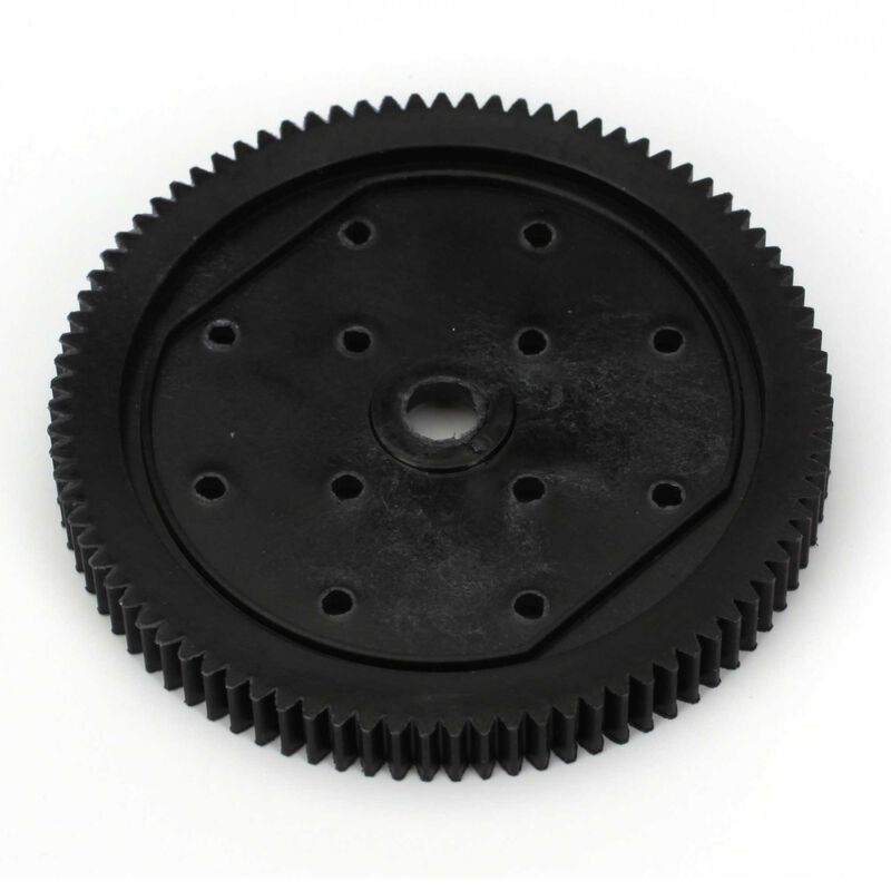 Spur Gear, 48P 87T: 1/10 2WD All