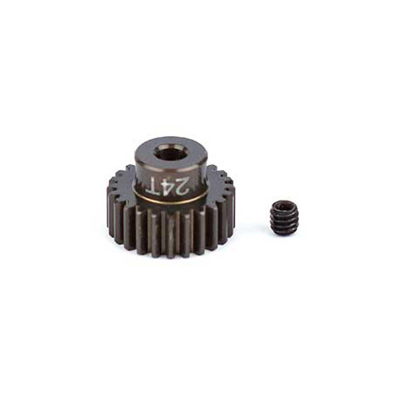 Factory Team Aluminum Pinion Gear, 24T, 48P, 1/8 shaft