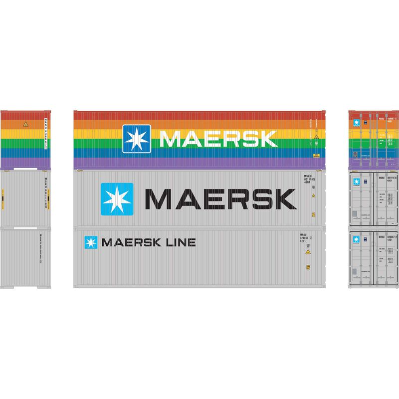 HO RTR 40' Corrugated HC Containr,ASU/MSKU/MRKU(3)