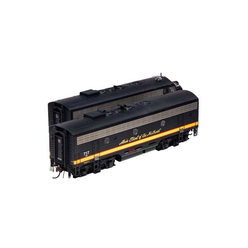 HO F7 A/B with DCC & Sound BN #752 717