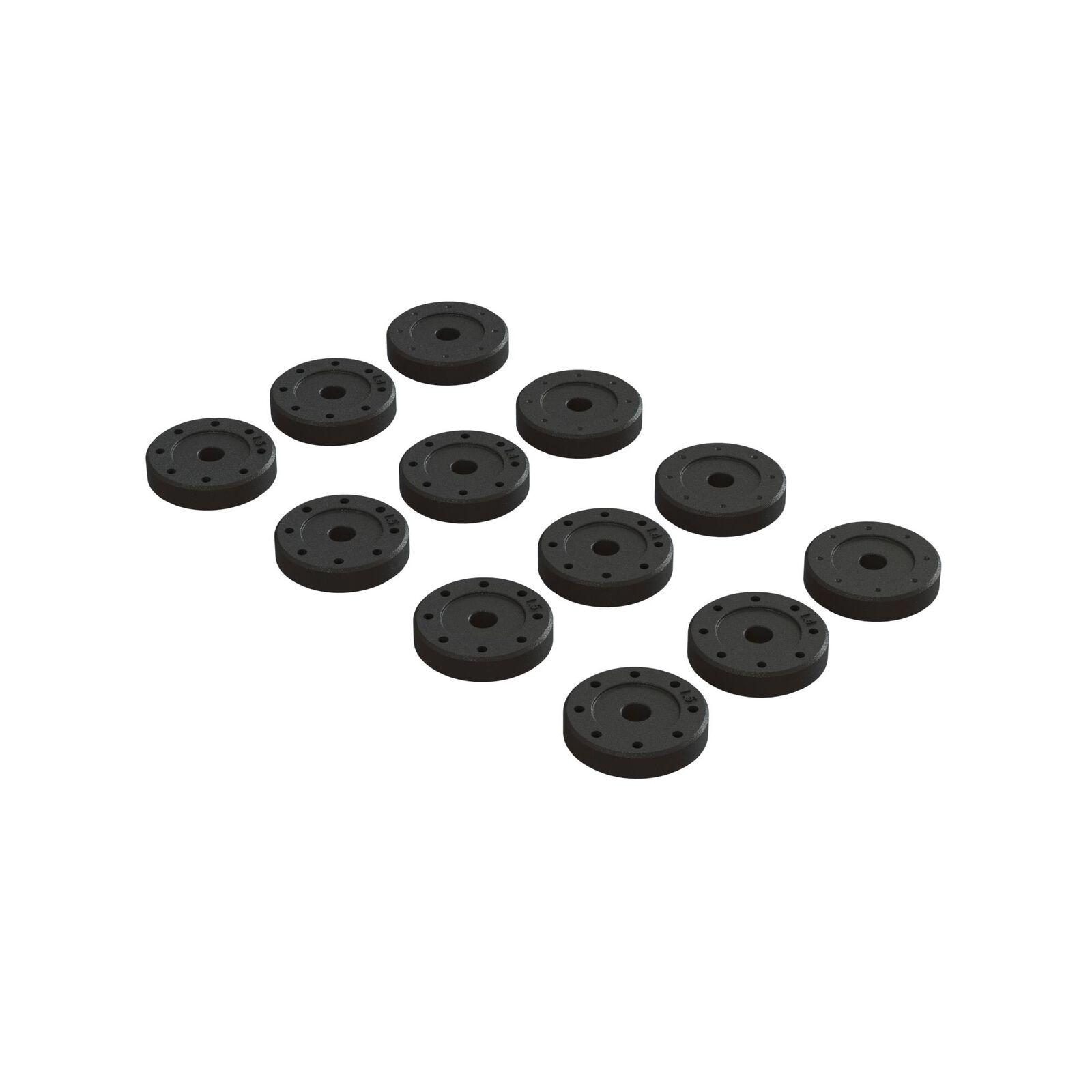 Shock Piston Set: 1.4mm (8), 1.5mm (8), Blank (4)