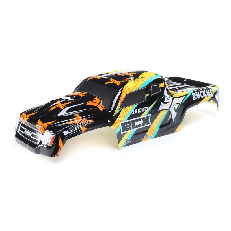 1/10 Painted Body, Black/Yellow: 2WD Ruckus