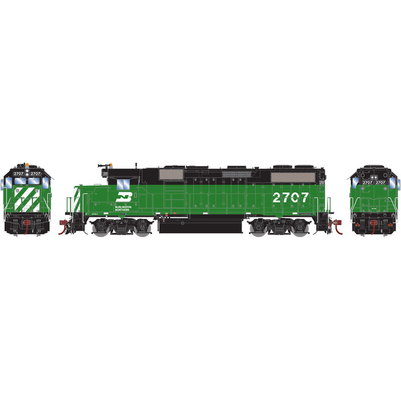 HO GP39-2 with DCC & Sound BN #2707