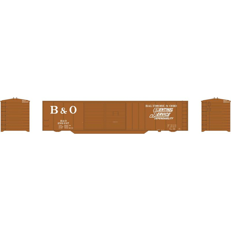 N 50' Double Sliding Door Box B&O #288337