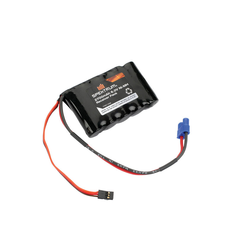 6.0V 2700mAh 5-Cell NiMH Flat Receiver Battery: Universal Receiver, EC3