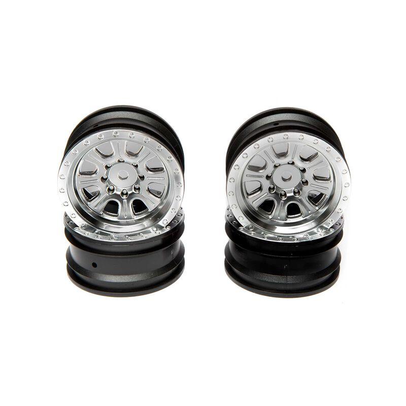 1/10 8-Spoke Front/Rear 1.9 Wheels, Satin (4): Ascender