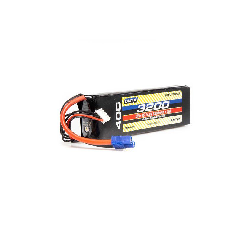 14.8V 3200mAh 4S 40C LiPo Battery: EC3