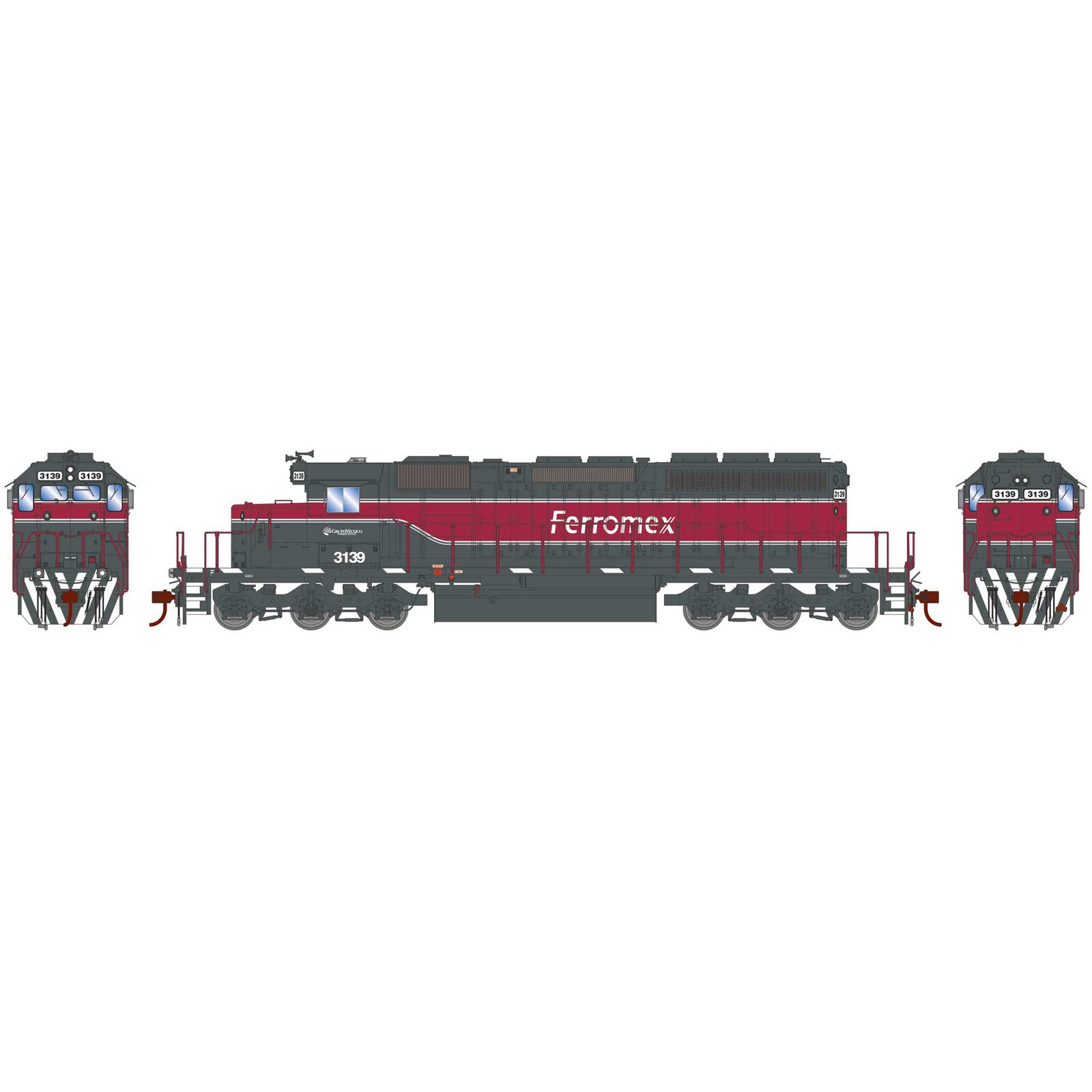 HO RTR SD40-2 Ferromex New Scheme #3139