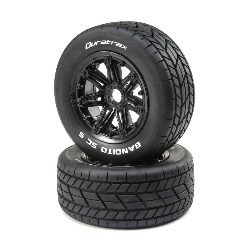 Bandito 1/5 SC Sport Mounted Black Tires (2)