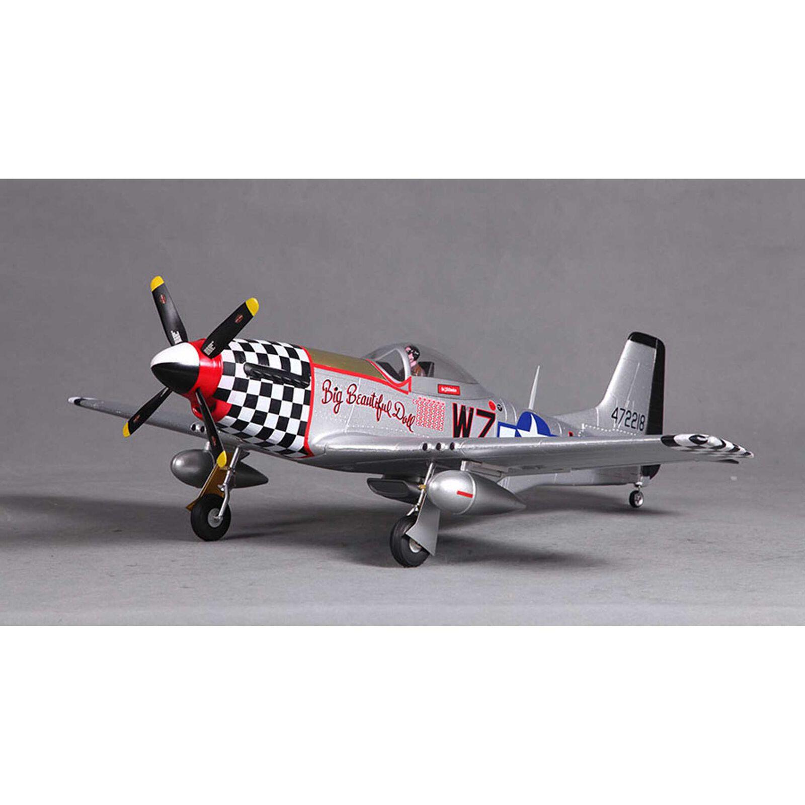 P-51D V2 Big Beautiful Doll PNP, 800mm