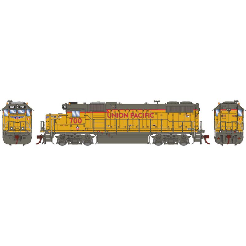 HO GP38-2 with DCC & Sound UP RCL Baby Wings #700