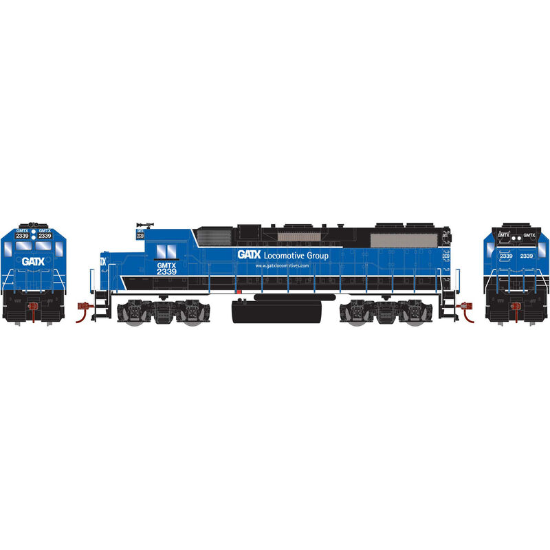 HO GP38-2 with DCC Decoder GATX Black and Blue #2339
