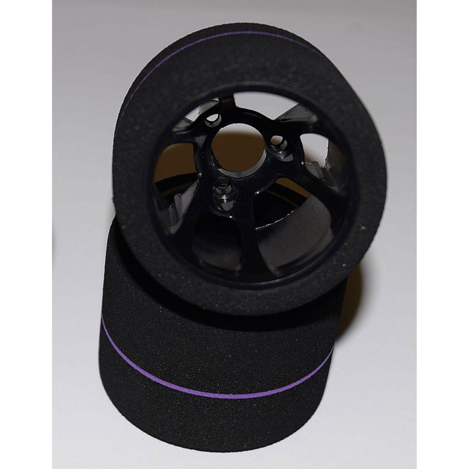 1/12 Spec Tire, Rear Mounted Wheel, Team Purple (2)