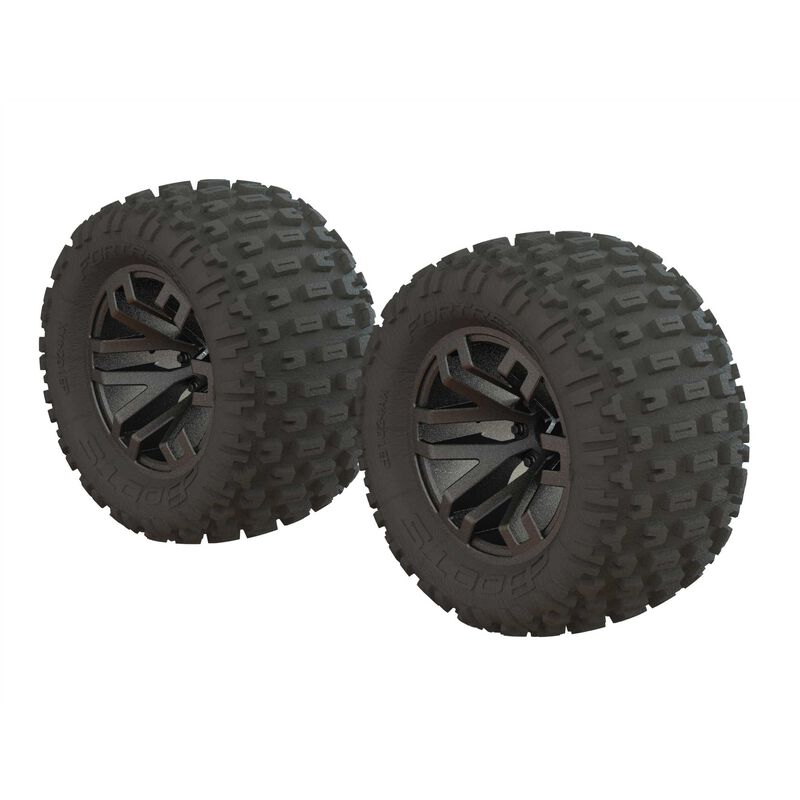 Dboots 'Fortress MT' Tire Set Glued Gun Metal (2)