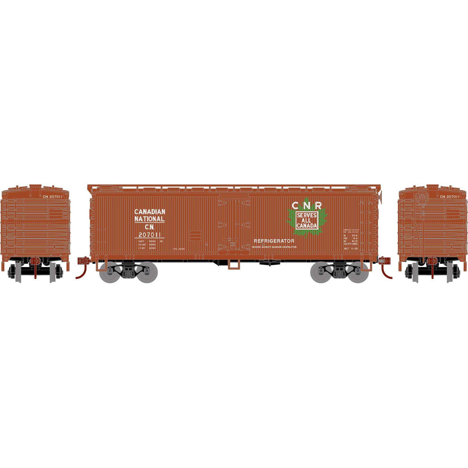 HO 40' Wood Reefer, CN #207011