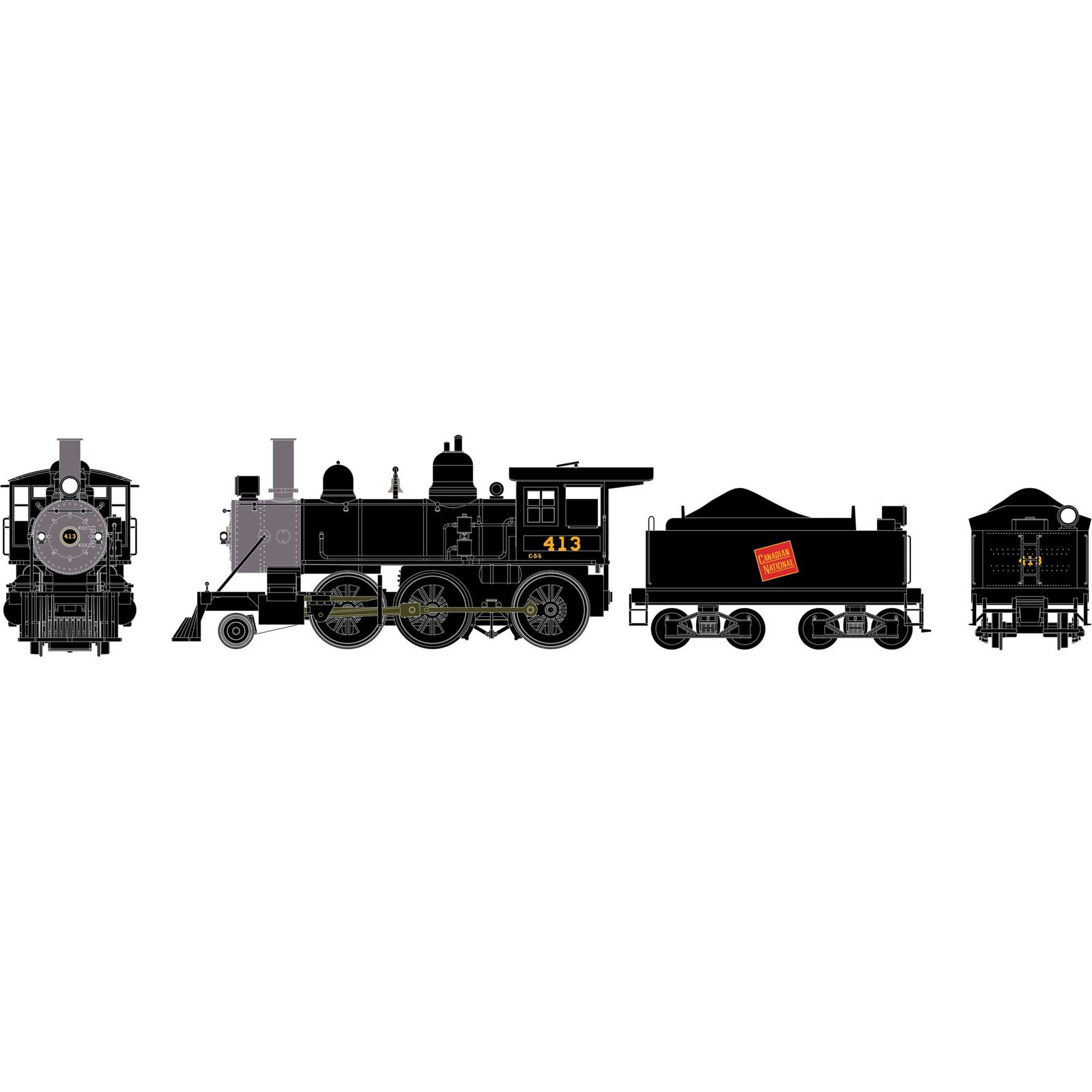 HO RTR Old Time 2-6-0 Mogul with DCC & Sound, CN #413