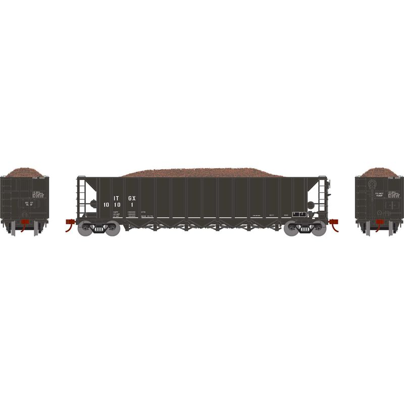 HO RTR 5-Bay Rapid Discharge Hopper ITGX Blk#10101