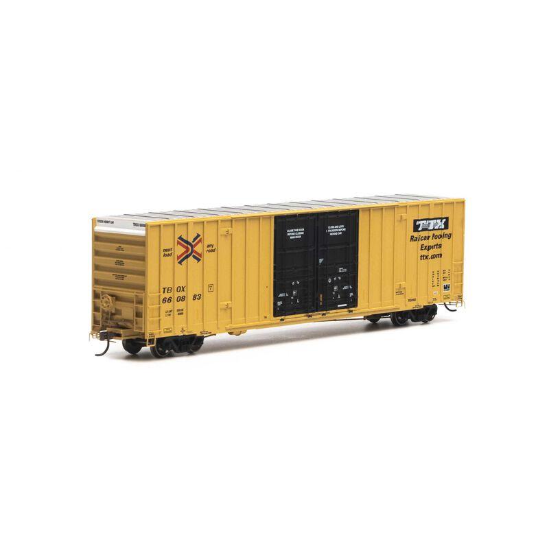 HO RTR 60' Gunderson Box RBOX TTX #660883