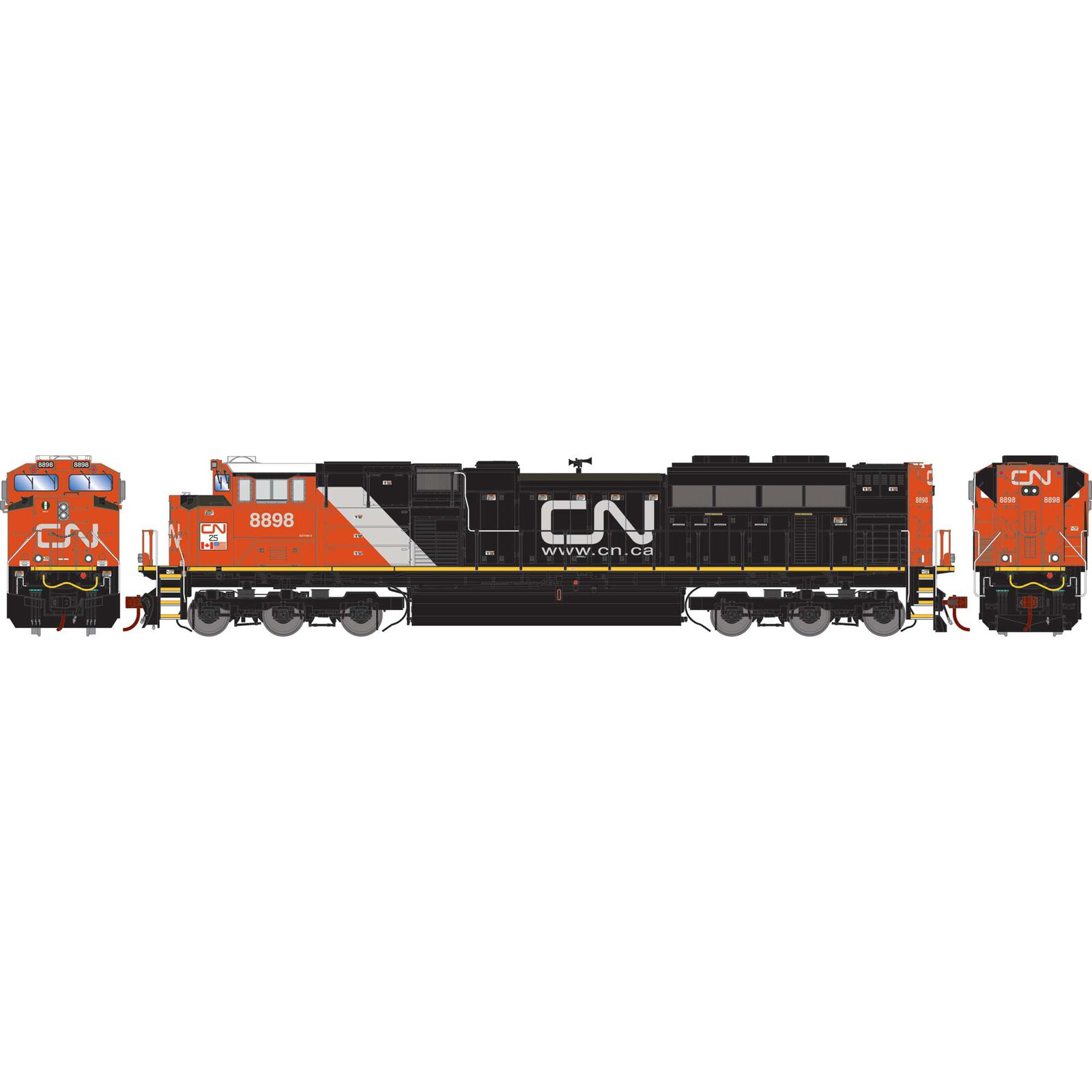 HO G2 SD70M-2 with DCC & Sound, CN-25/Heritage #8898
