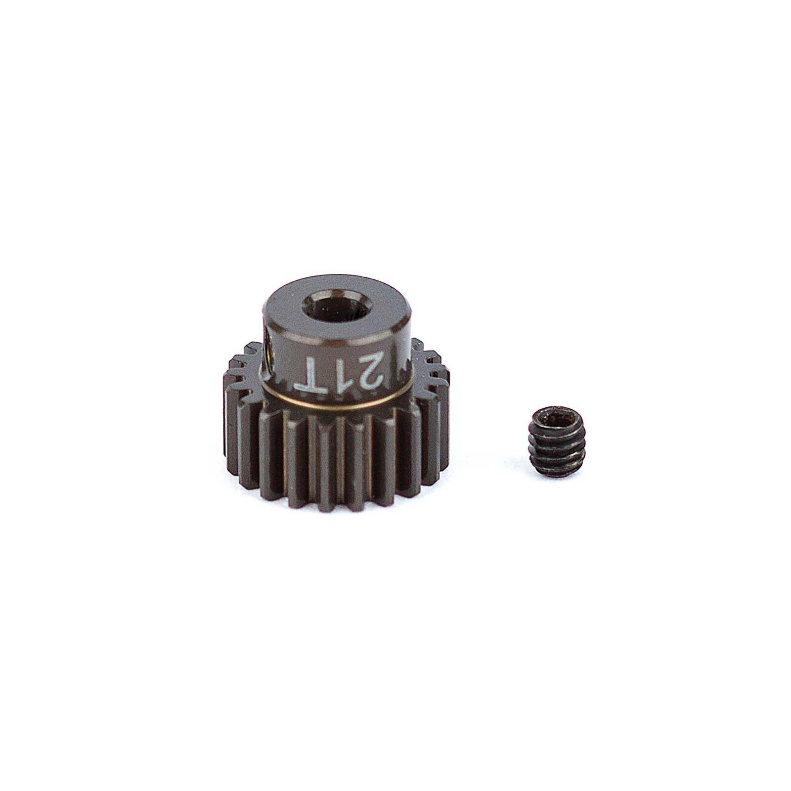 Factory Team Aluminum Pinion Gear, 21T, 48P, 1/8 shaft