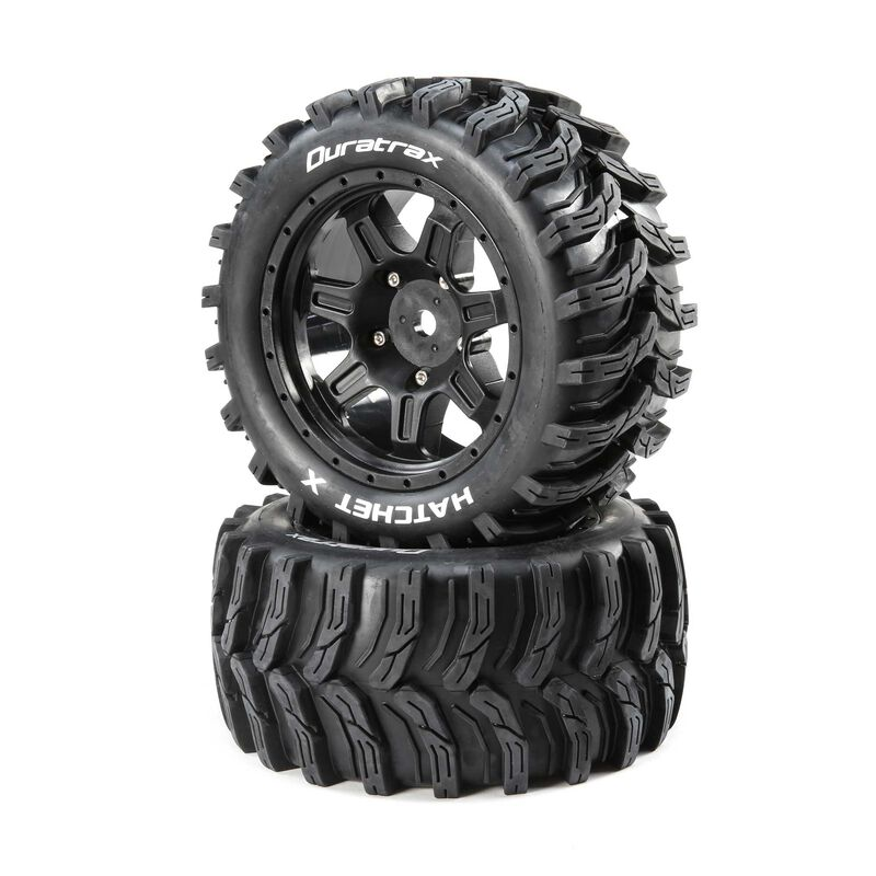 Hatchet X Belted Mounted Tires, 24mm Black (2)