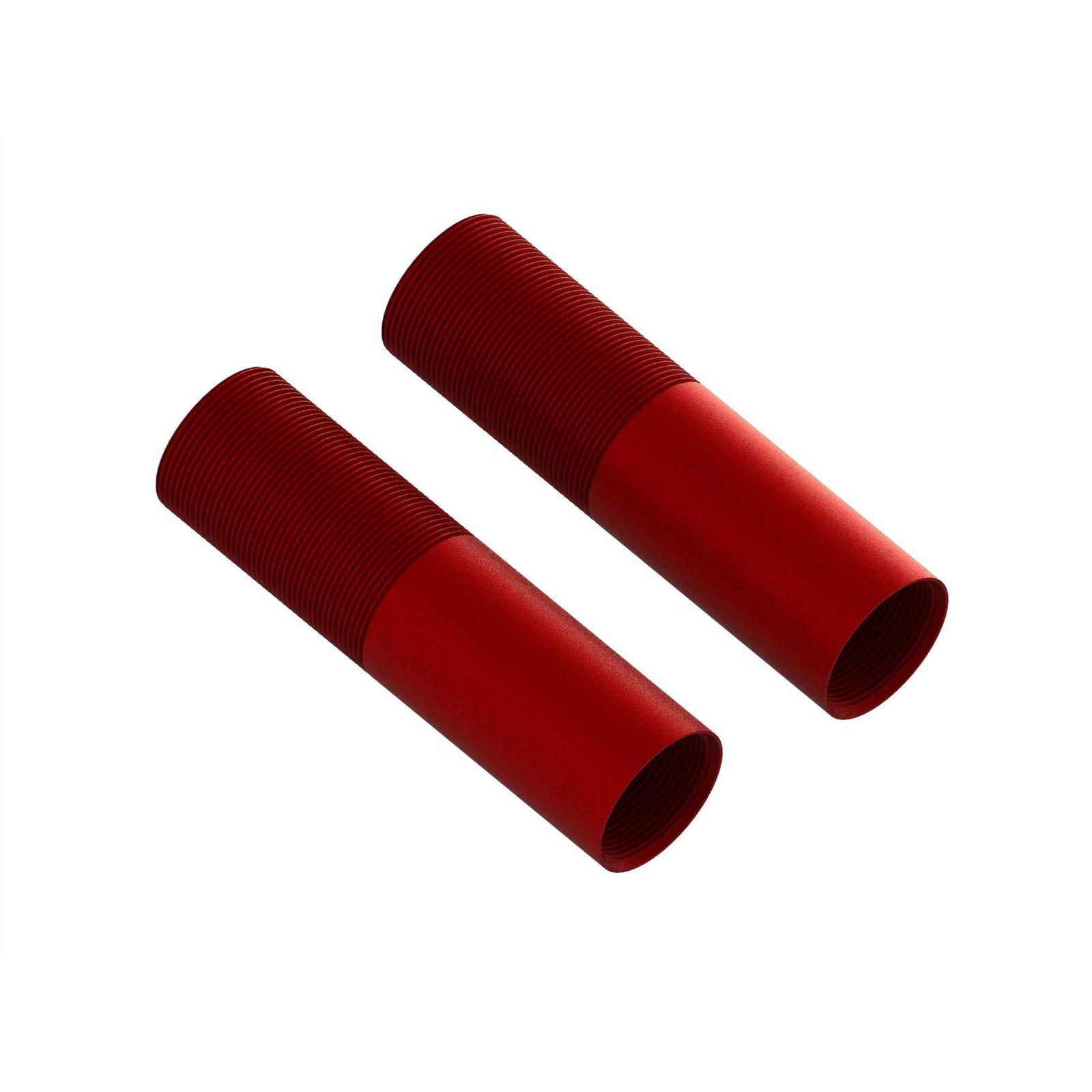 Aluminum Shock Body, 24x88mm (Red) (2)