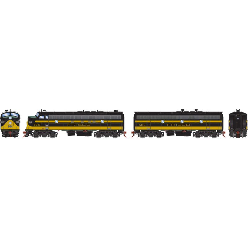 HO FP7A F9B with DCC & SND SLSF Blk & Yel #5045 #5142