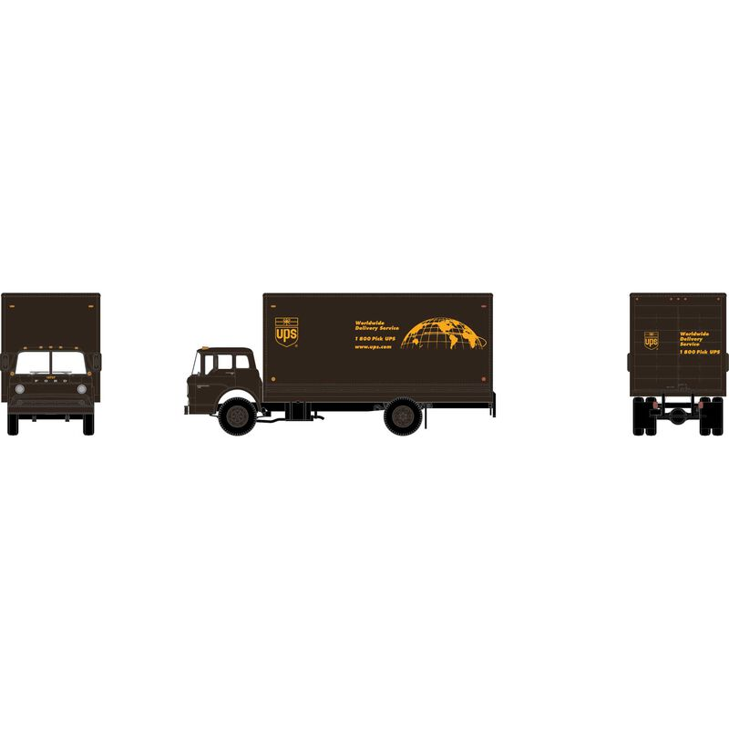 N Ford C Box Van, UPS