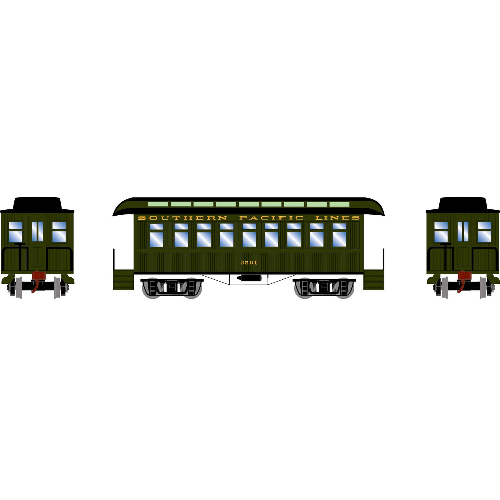 HO 34' Old Time Overton Passenger, SP #3501