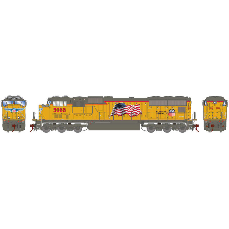 HO SD70M with DCC & Sound UP Late Flare #5068
