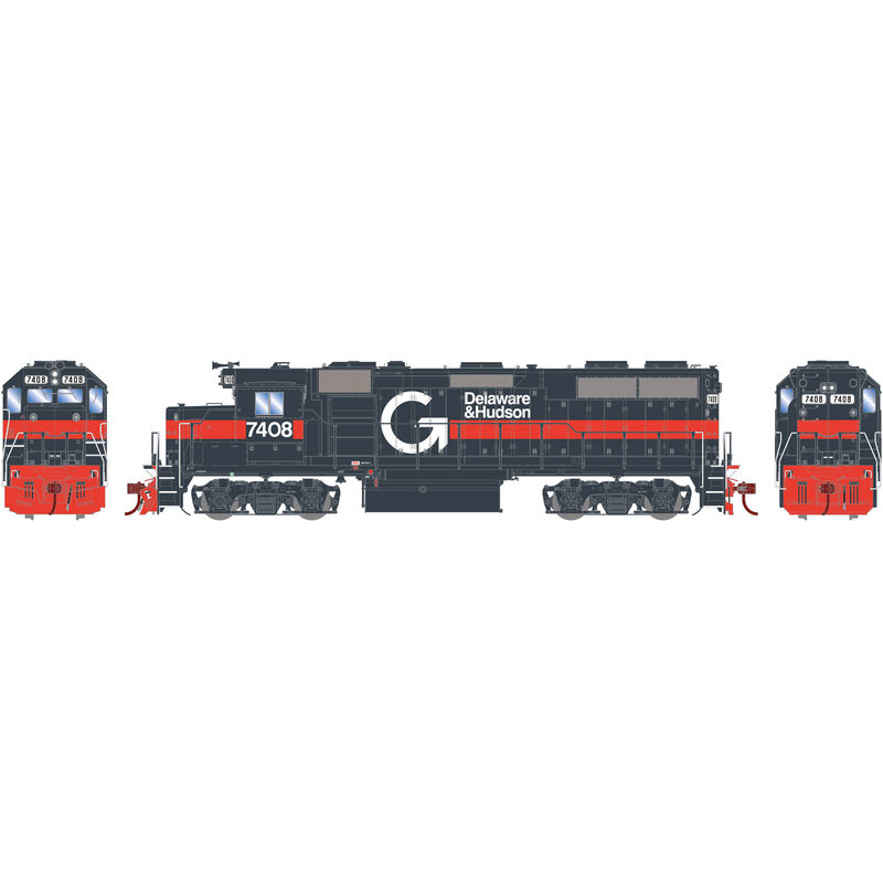 HO GP39-2 with DCC & Sound D&H Guilford #7408