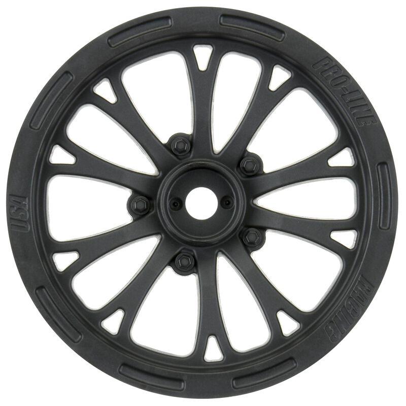 "1/10 Pomona Drag Spec Front 2.2"" 12mm Drag Wheels (2) Black"
