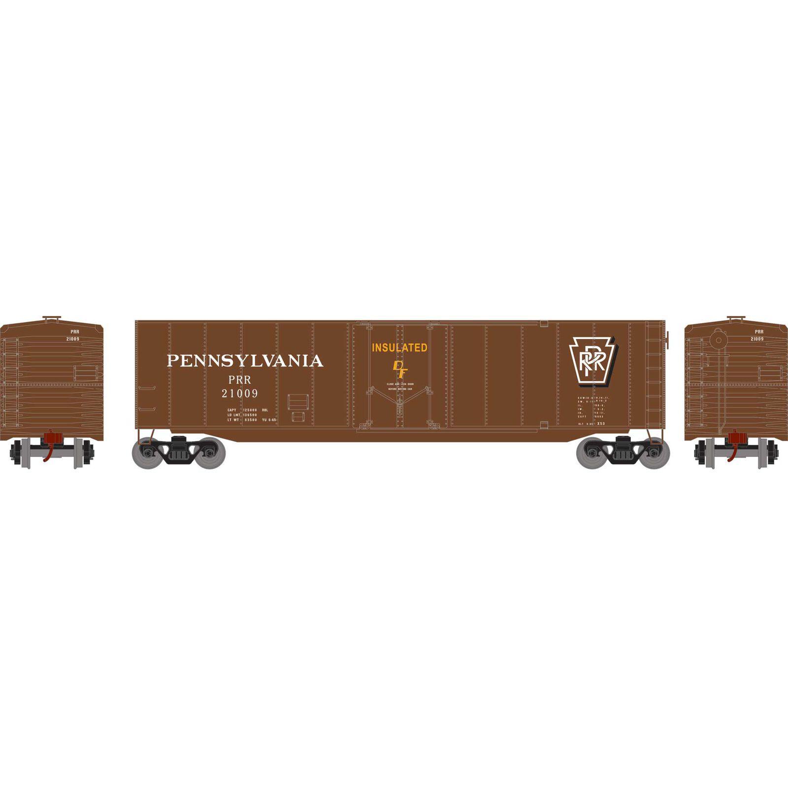 HO 50' Plug Door Smooth Side Box, PRR #21009