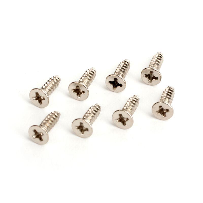 3X10mm Flat Head Tapping Screws (8)
