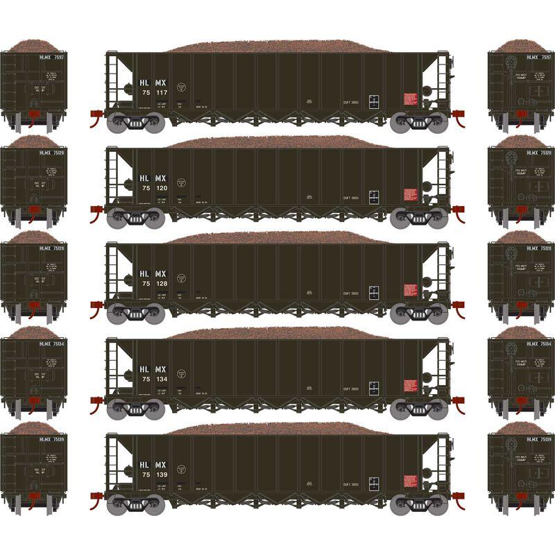 HO RTR 5-Bay Rapid Discharge Hopper HLMX #2 (5)
