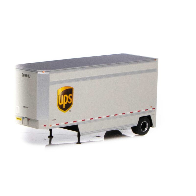 HO RTR 28' Drop Sill Trailer UPS with Shield #202017
