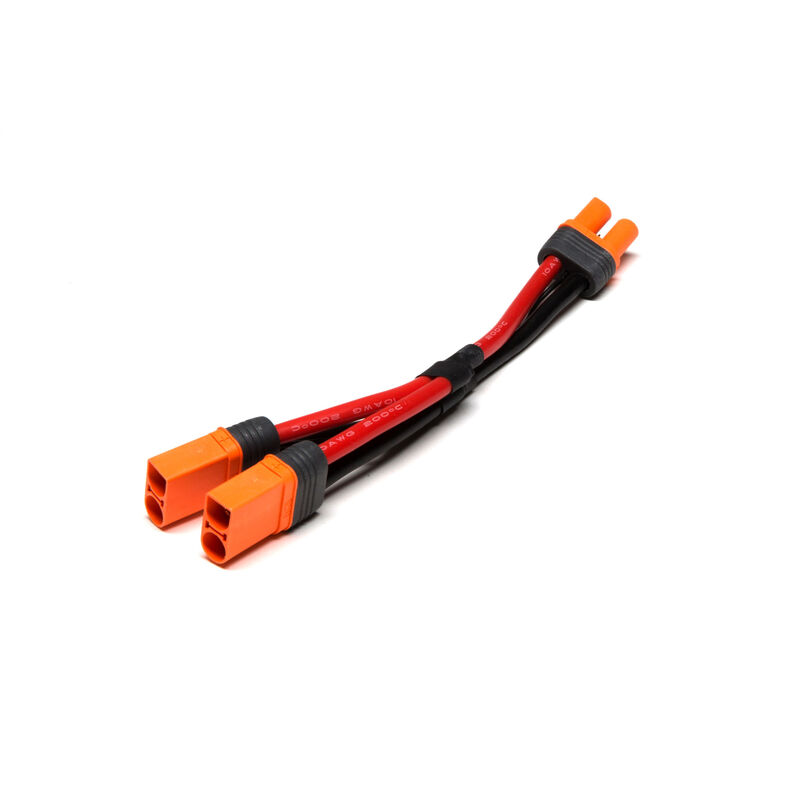 """Parallel Y-Harness: IC5 Battery with 6"""" Wires, 10 AWG"""