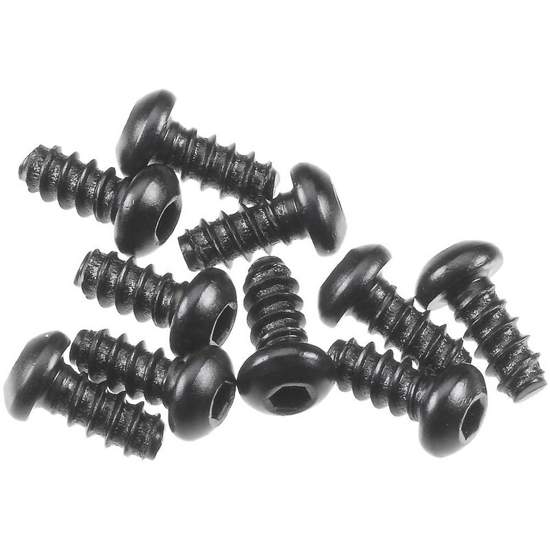Hex Socket Tapping Button Hd M2.6x6mm Blk (10)