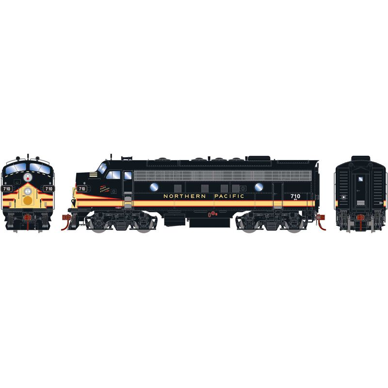 HO F7A with DCC & Sound BN #710
