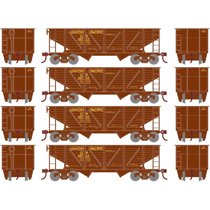 HO 34' 2-Bay Hopper with Coal Load UP #1 (4)