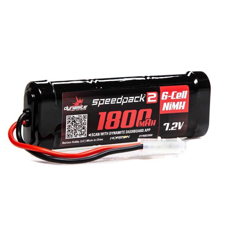 Speedpack2 7.2V 1800mAh 6C NiMH, Flat Tamiya