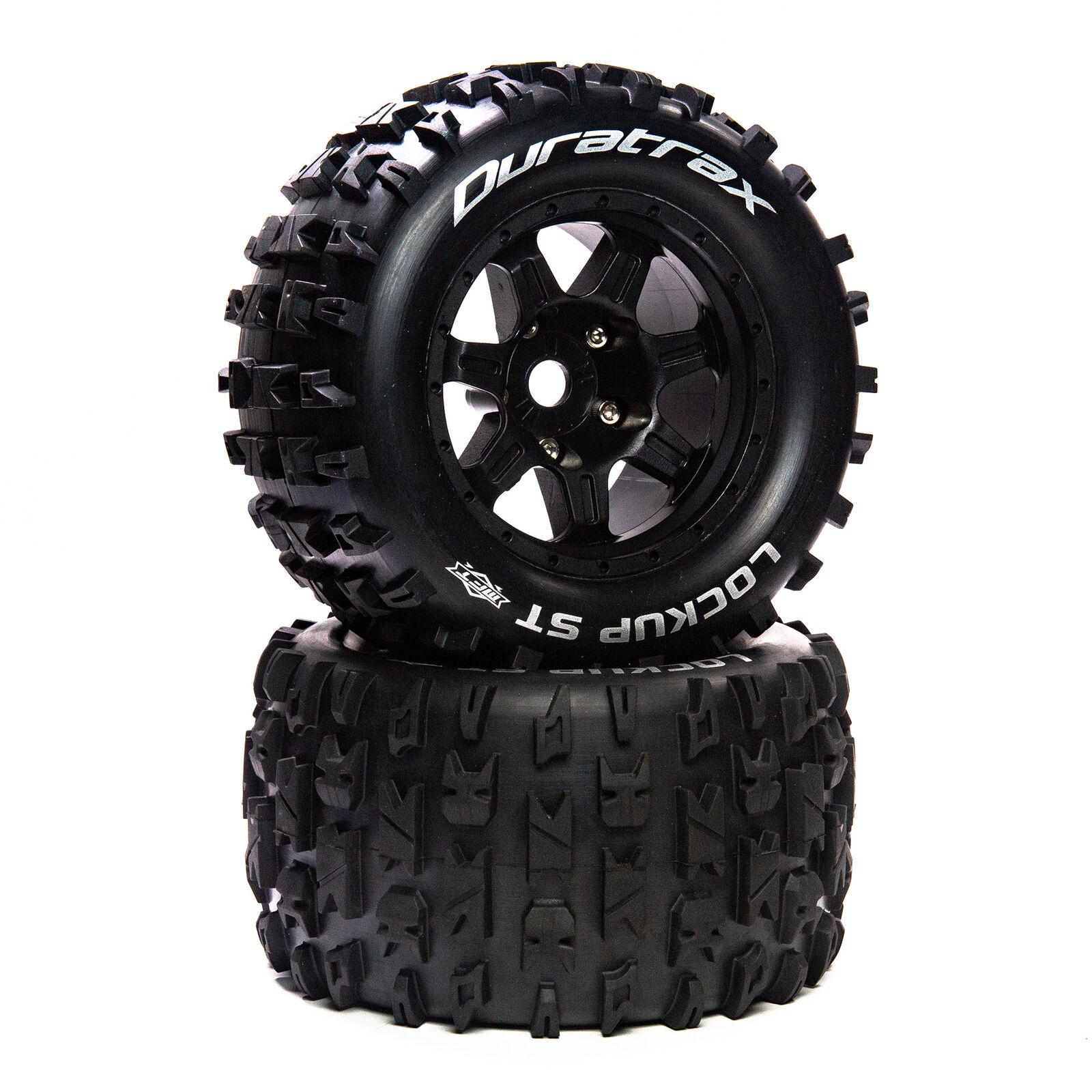 """Lockup ST Belt 3.8"""" Mounted Front/Rear Tires .5 Offset 17mm, Black (2)"""