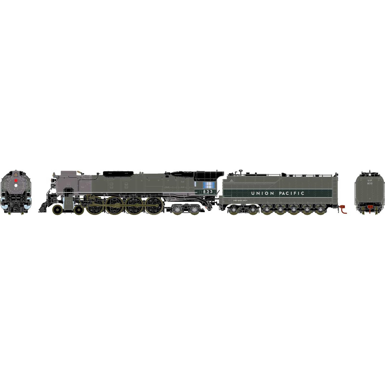 HO FEF-2 4-8-4 with DCC & Sound, UP #833